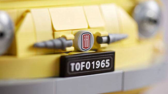 1960s Fiat 500F becomes a Lego set