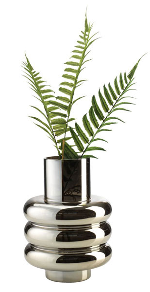 14. Magnus 1960s-style silver vase