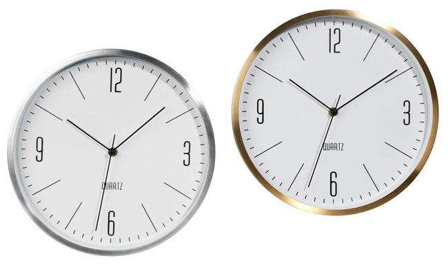 15. Halvor retro-style wall clocks