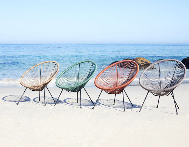 19. Ubberup Acapulco-style garden chairs