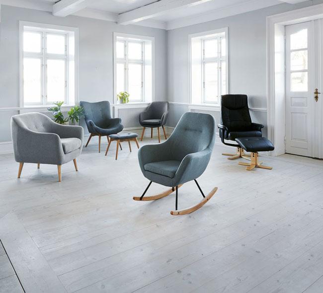 3. Nebel midcentury modern rocking chair