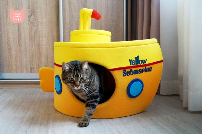 2. Beatles Yellow Submarine cat house by Made For Pets