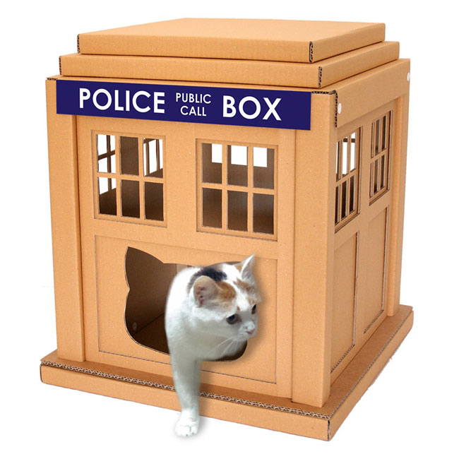4. Doctor Who Tardis cat house