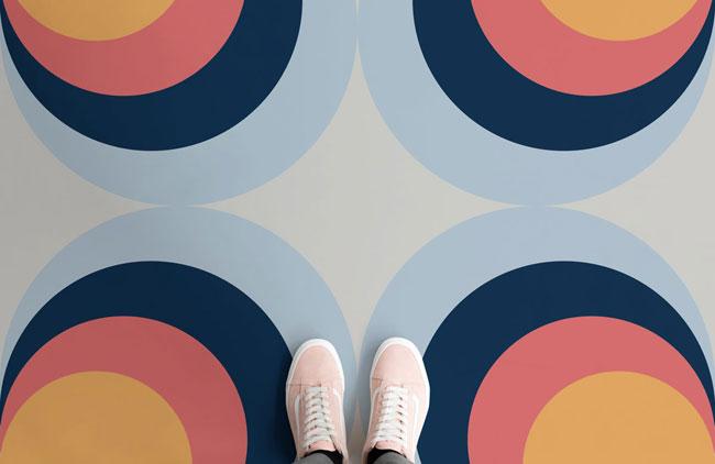 1970s psychedelic flooring by Atrafloor