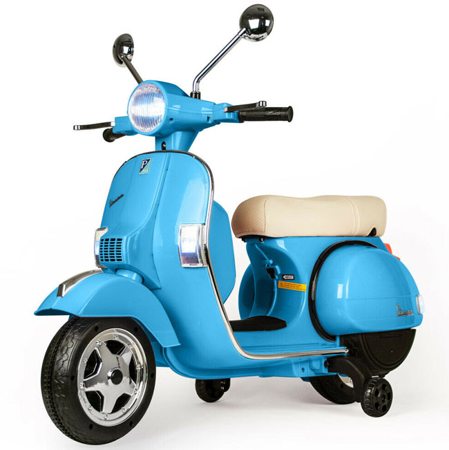 10. Vespa PX-style electric scooter for kids