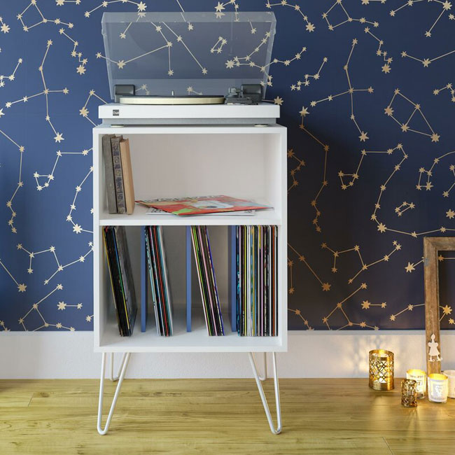 Budget retro turntable stands at Wayfair