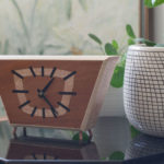 Upcycled midcentury modern clocks by Blackwell Woodworks
