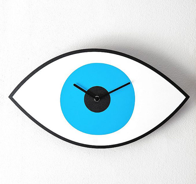Pop art-style Eye Clock at Urban Outfitters