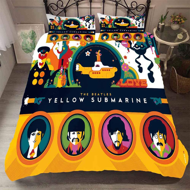 The Beatles Yellow Submarine retro duvet sets