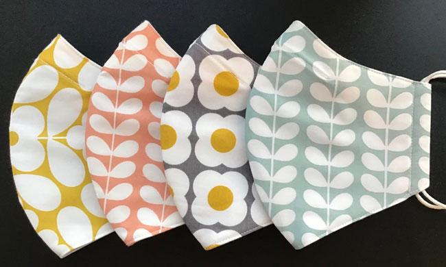 10. Orla Kiely fabric face masks