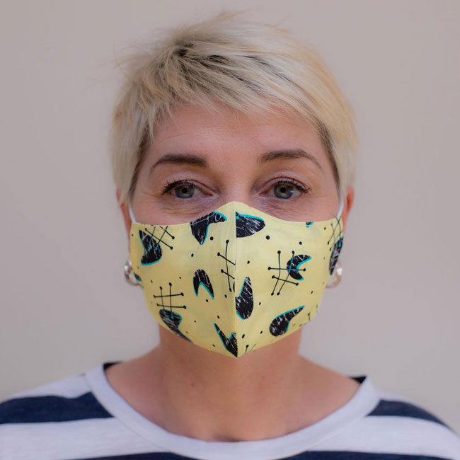 1. Midcentury modern fabric face masks by 20th Century Cloth