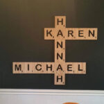 Handmade oversized Scrabble letters by Epic Woodworx
