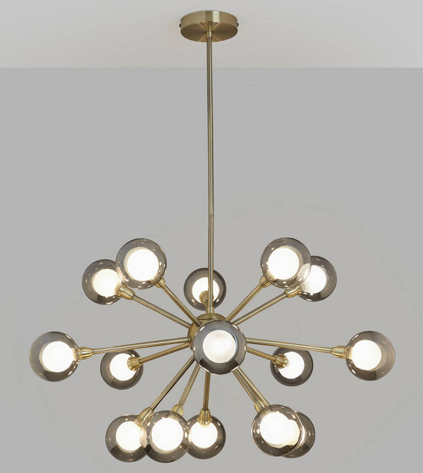 Huxley 1970s-style chandelier at John Lewis and Partners