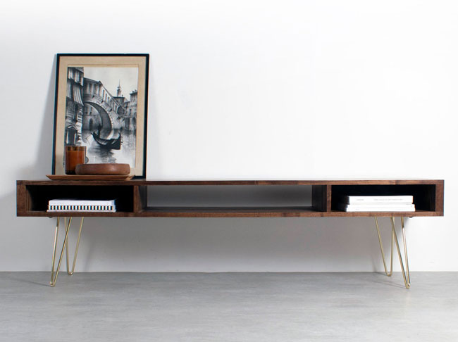 20. Midcentury modern wide TV stand by The Urban Editions