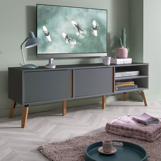 26. Otto TV unit in grey by Noa and Nani