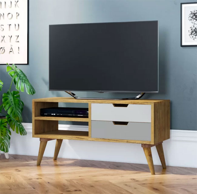 5. Carnany retro TV unit at Wayfair