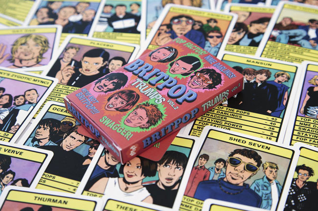 Top Trumps goes 90s with Britpop Trumps