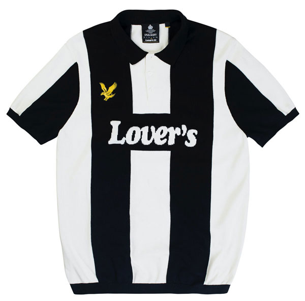 Classic football top knitwear by Lyle and Scott