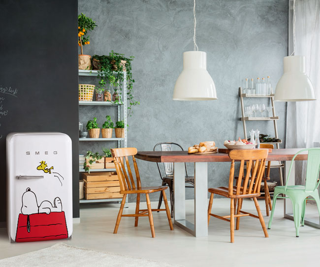 Limited edition Snoopy fridge by Smeg