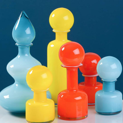 47. 1960s-style glass vases by The Little Boy's Room
