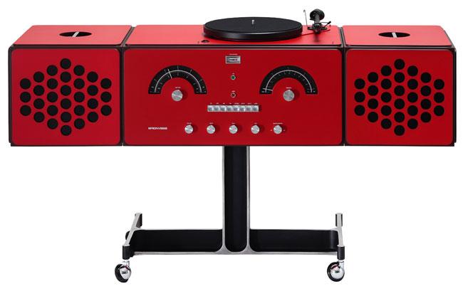 12. 1960s Brionvega Radiofonografo record player returns in red