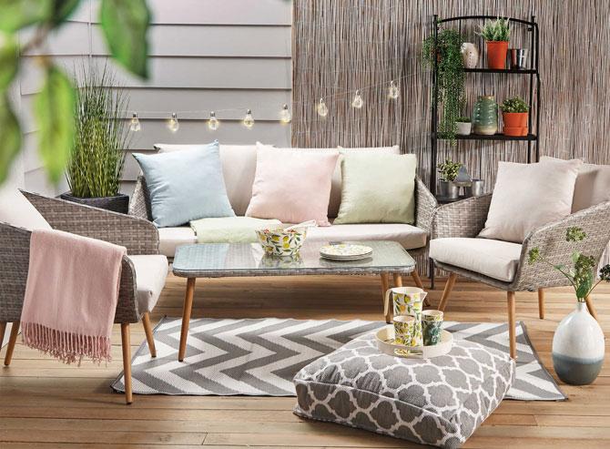 13. Midcentury modern-style garden furniture at Aldi