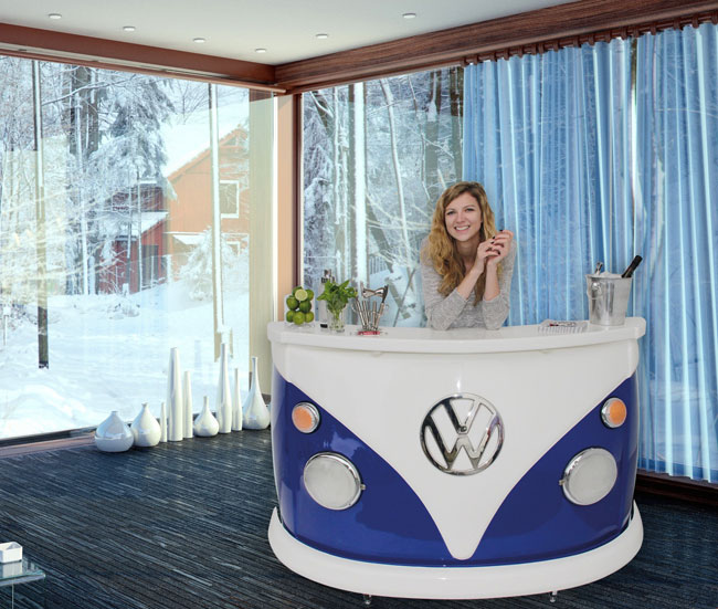 14. VW style: Volkswagen T1 Bus home bar