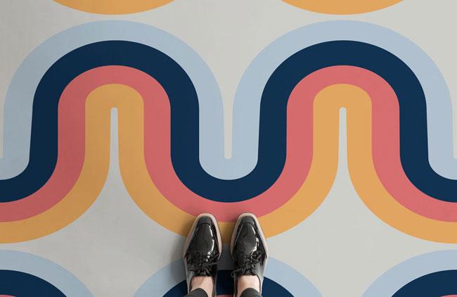 18. 1970s psychedelic flooring by Atrafloor