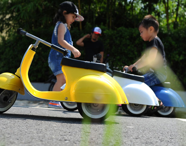 21. Ambosstoys Primo Vespa-style scooters for kids
