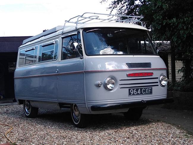 28. Original 1961 Commer Bluebird Moto Plus camper van