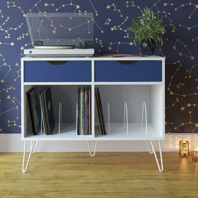 36. Budget retro turntable stands at Wayfair
