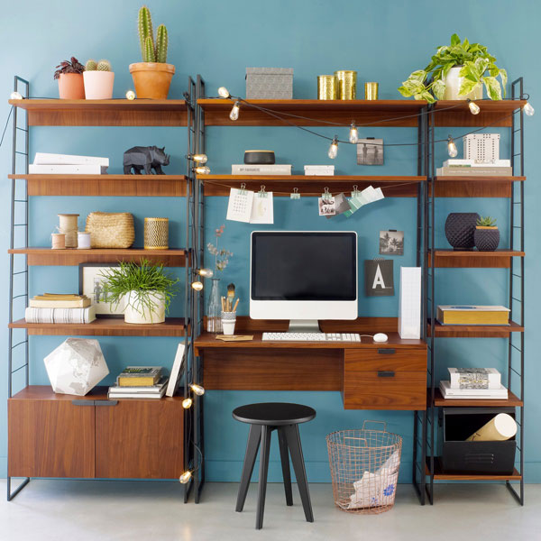 37. Watford midcentury-style shelving system at La Redoute