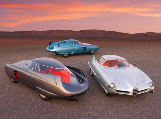 50. 1950s Alfa Romeo space-age BAT concept cars up for auction