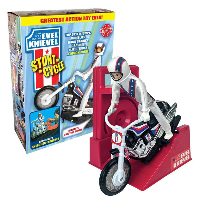 6. 1970s Evel Knievel Stunt Cycle Toy reissued