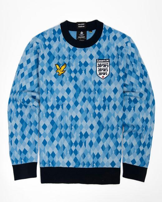9. Lyle & Scott recreates 90s football shirts as knitwear