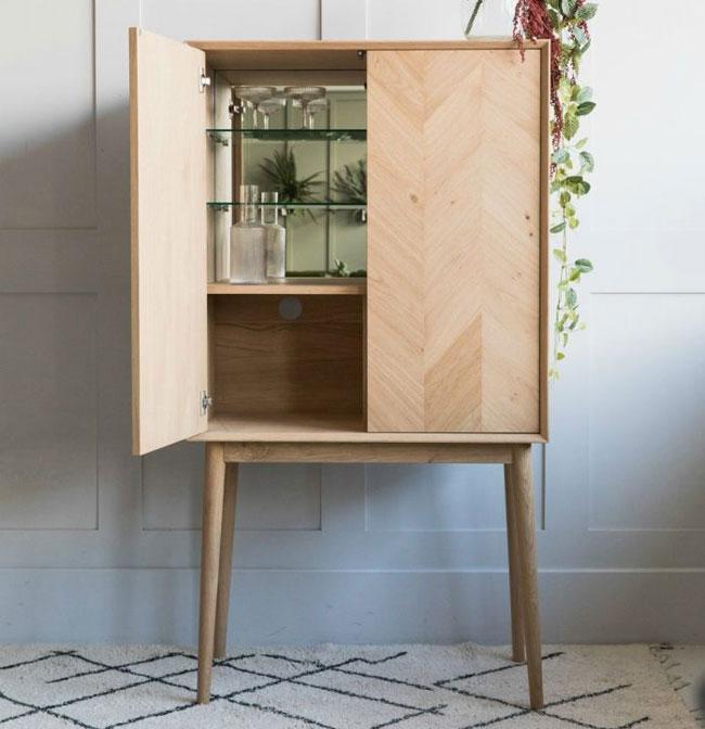 14. Bergen Oak drinks cabinet at Rose and Grey