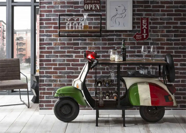 1. Vespa home cocktail bar at Smithers of Stamford