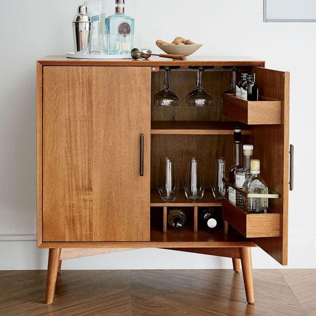 2. Midcentury bar cabinet at West Elm