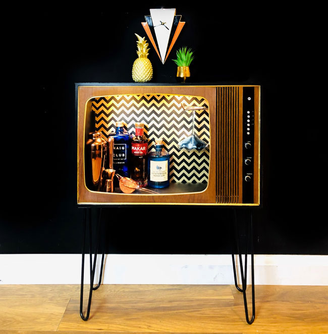 6. 1970s TV bar by Ella Lucas Designs