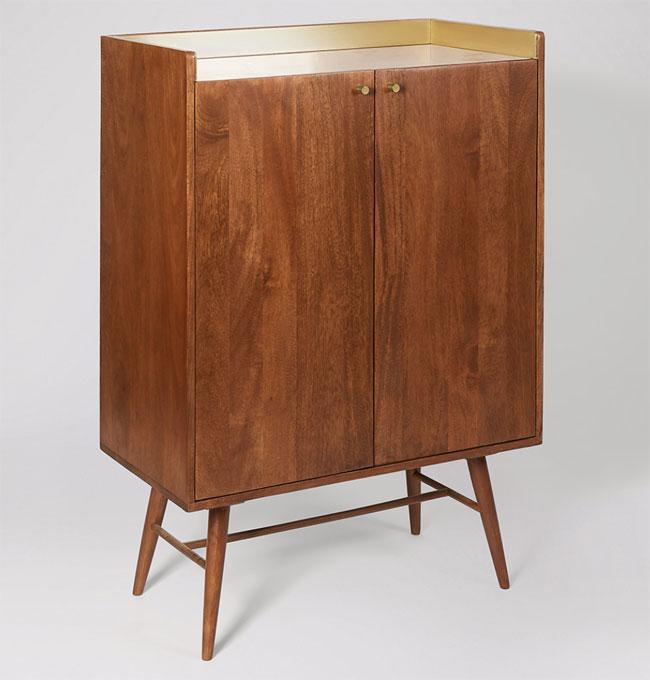 8. Swoon Fresco midcentury modern bar cabinet