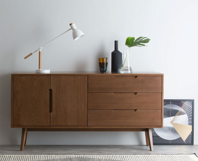 11. Jenson dark stain sideboard at Made