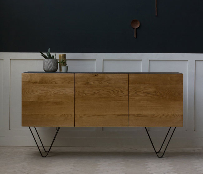 21. Handmade Konk oak sideboard