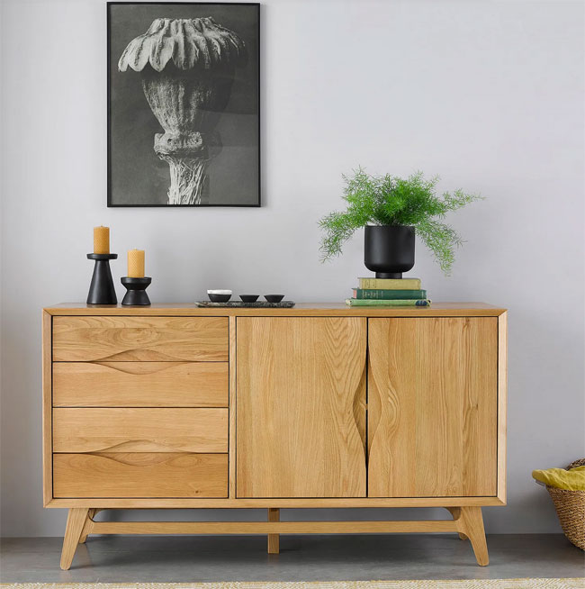 24. Ellipse midcentury modern sideboard by Oak Furnitureland