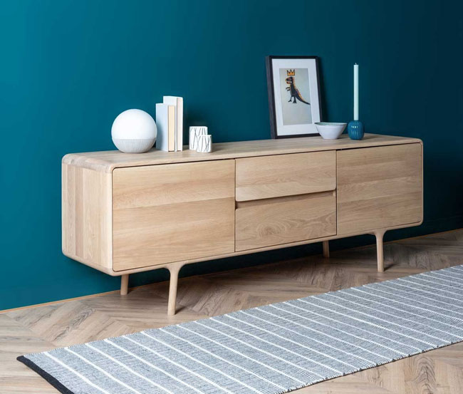 27. Fawn oak sideboard at Heals