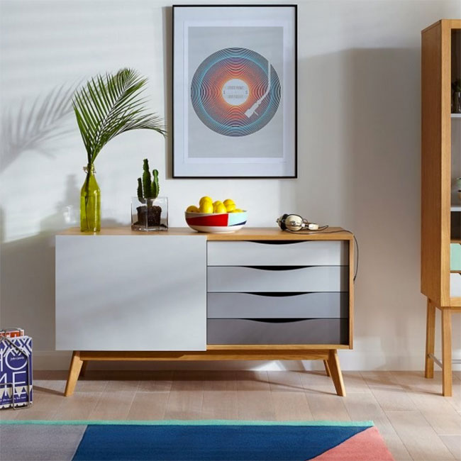37. Avon painted oak sideboard by Woodman