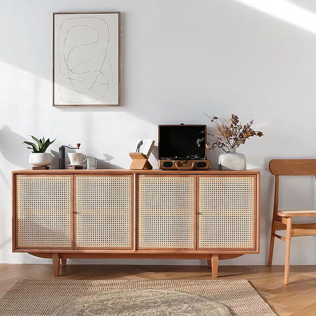 44. Nordic rattan sideboard at Homary