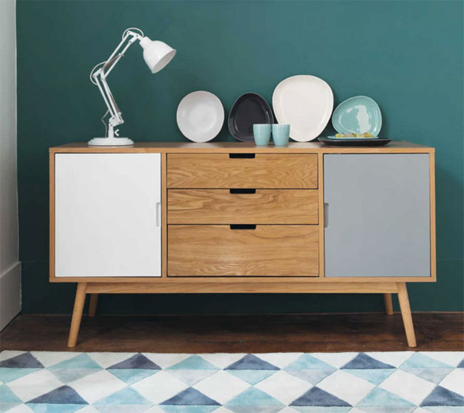 46. Fjord colour block sideboard at Maisons Du Monde