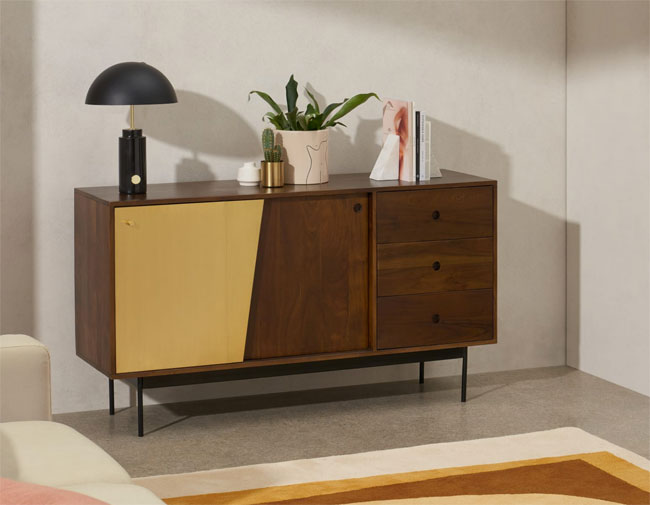 9. Mischa wood and brass sideboard at Made