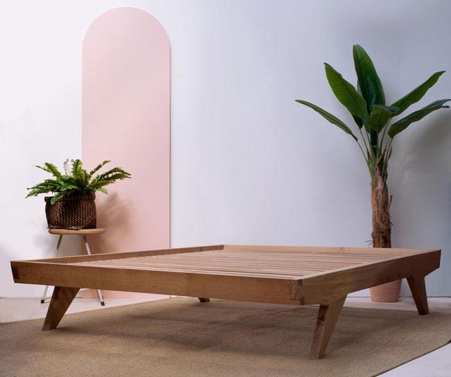 10. Handmade Haukotus oak bed by Konk Furniture