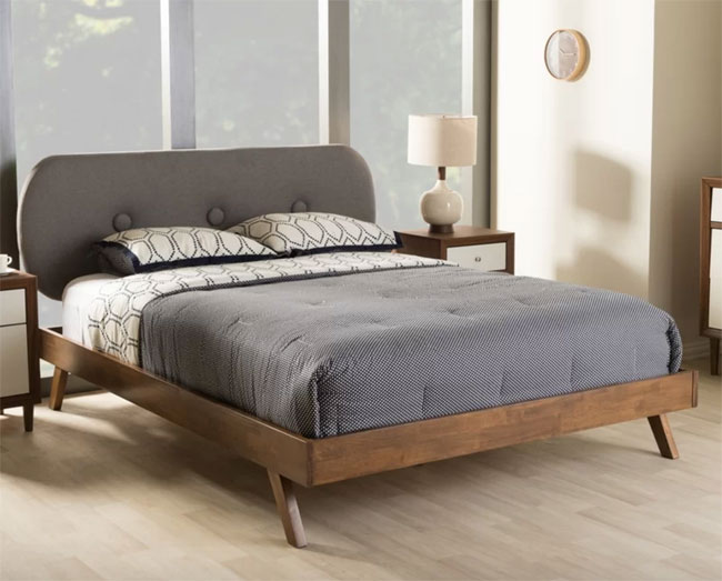 11. Halie upholstered platform bed at Wayfair